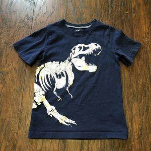 ⭕️ Carters Dinosaur skeleton tee